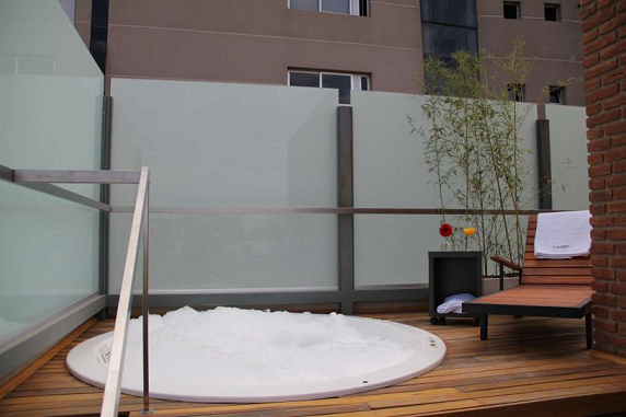 Sauna al aire libre del hotel en cordoba Sol de Piedra