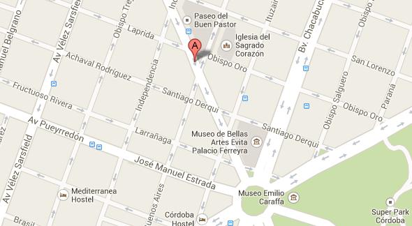 Ubicacion del Sanatorio Allende