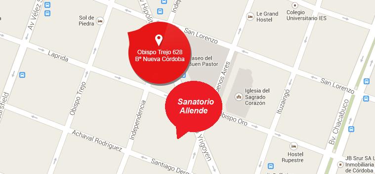 ubicacion del santorio allende y el hotel sol de piedra