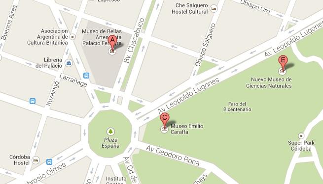 Mapa de museos en cordoba
