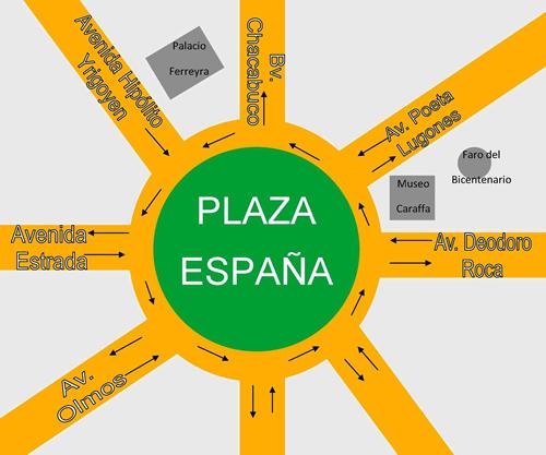 ubicación de plaza españa en córdoba